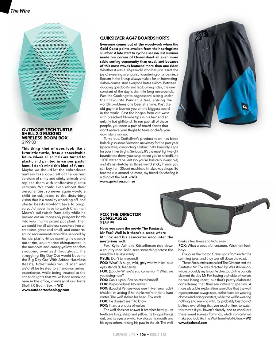 Wireless Speaker in Surfing Life Magazine