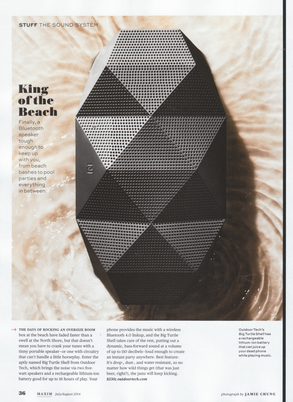 Maxim Wireless Speaker Article on the Big Turtle Shell