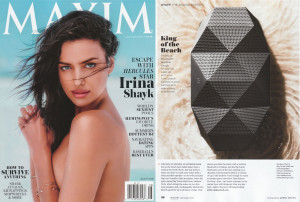 Maxim Mags July August Issue featuring The Big Turtle Shell on Page 36