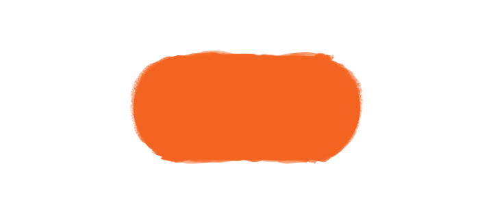 Orange Oval Ski Slope Symbol